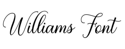 Williams Font